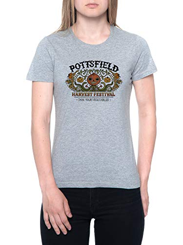 Delavi Pottsfield Harvest Festival Camiseta Mujer Gris T-Shirt Women's Grey