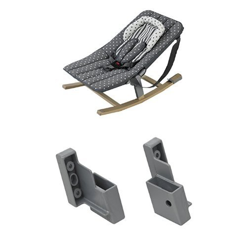 Geuther - Rocco Baby-Wippe 4705, punkte + Adapter für Baby-Wippe Rocco