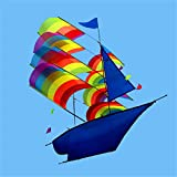 "Raitron Huge 37"" 3D Stereo Sailboat Kite Big Size Flying Outdoor Toy"