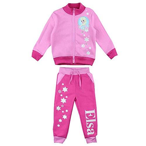 Disney Frozen de ijskoningin ELSA 2-delig. Joggingpak huispak roze/roze (110)