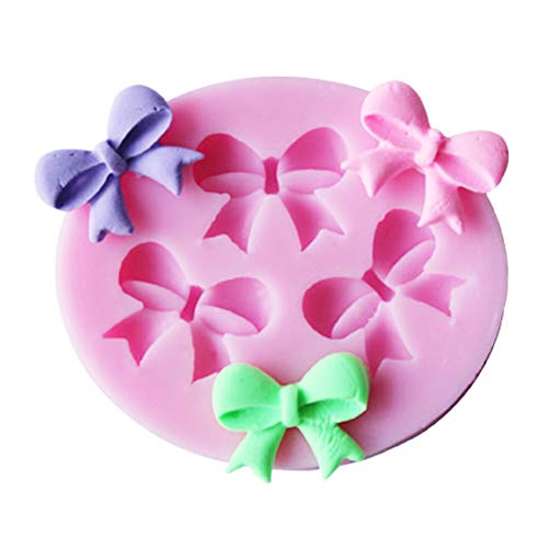 GRK Cake Mold Bowknots Flower 3D Fondant Mold Silicone Cake Decorating Tool Chocolate Soap Stencils Kitchen Baking Accessories