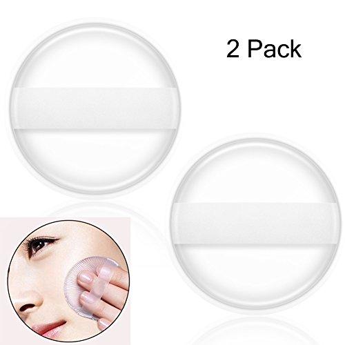 Coque en silicone éponge Maquillage, 2pcs professionnel Fond de teint liquide Applicateur blender BB Crème lavable Puff