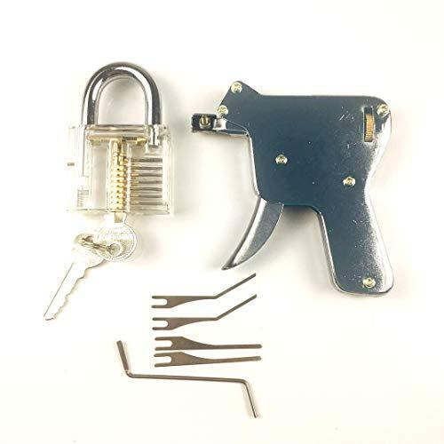 TPM Go multi-lock Pick Gun mit Transparent Praxis Lock, Entsperren Tür Lock, Einfachheit der Operator (bis)