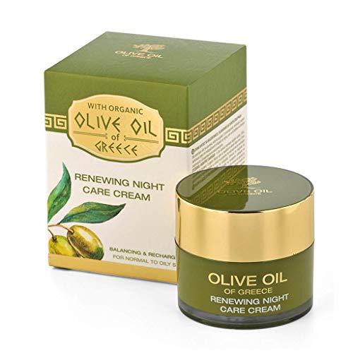 BioFresh Cellule Renouveler Crème De Nuit pour les Soin Hydratant Intense avec huile d'olive biologique et beurre de karité, pour les peaux normales à grasses 50 ml