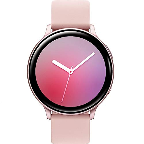 Samsung Galaxy Watch Active2 (correa de silicona + bisel de aluminio) Bluetooth - Internacional (oro rosa, R820-44 mm)