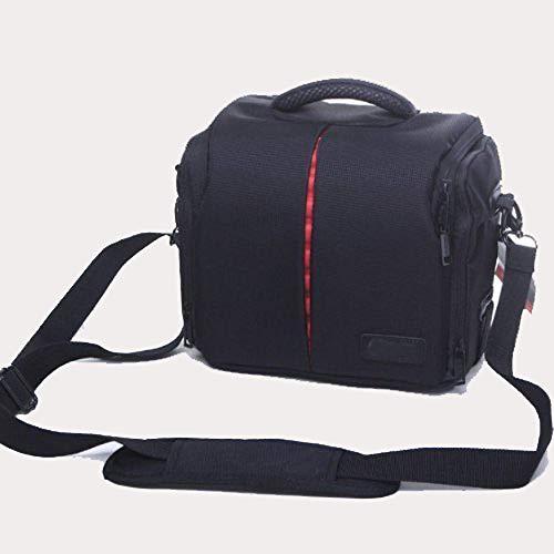 BV & Jo Waterproof Anti-shock DSLR SLR Camera Case Bag with Extra Rain Cover Compatible with Canon EOS 1300D,1200D,2000D, 4000D,250D 200D, 750D 800D,Panasonic LUMIX DMC FZ82 FZ72 FZ330,GF-5,GF-6 Bridge Cameras