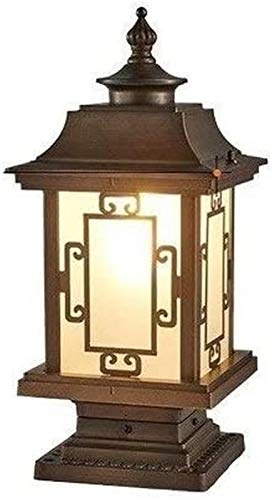 American Industrial Retro Outdoor Garden Post Light Pier Mount Street Lantern Puerta vidrio impermeable Columna Iluminación mesa Casa Entrada entrada Lámpara pilar Pared Patio Césped Luces piso