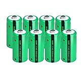8 pezzi 2 / 3AA Ni-MH Batteria 1.2V 650mAh Batteria ricaricabile per pulsanti di saldatura Superiore