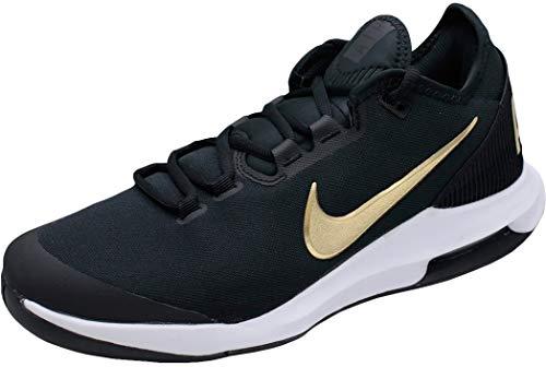 Nike Herren Air Max Wildcard Tennisschuhe, Schwarz/Metallic Gold/Weiß, 44.5 EU
