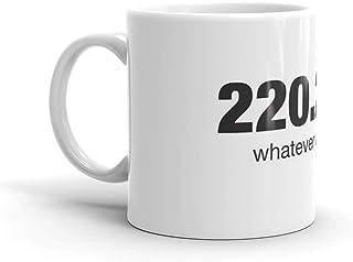 220。 221. どんなものでも。 11オンス セラミックコーヒーマグ 大きなティーカップ 持ちやすいCハンドル