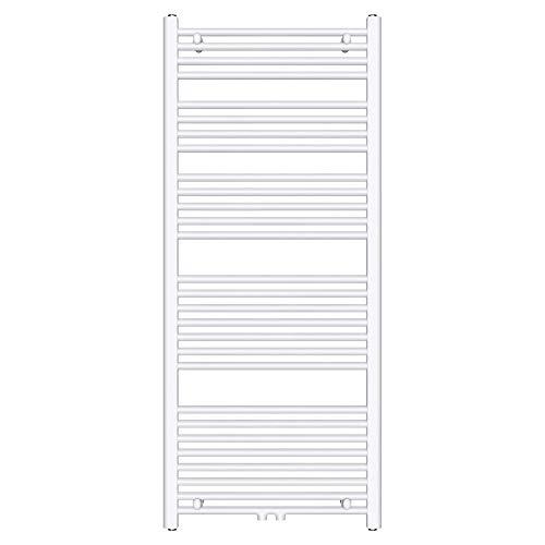 Mai & Mai radiador de diseño 60x140cm radiador toallero blanco fabricado en acero secador de toallas