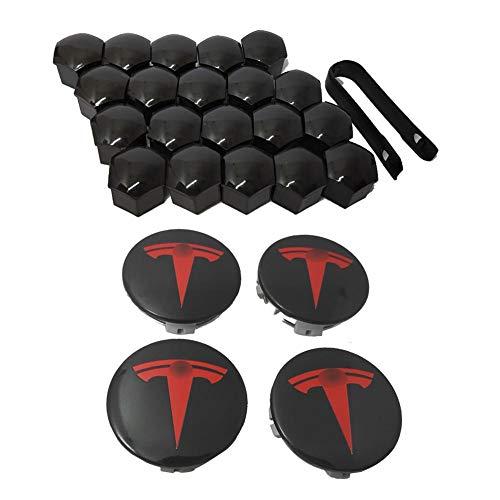 Modelo 3, Kit De Tapa De Rueda S & X Aero, para Tesla, 4 Cubiertas Centrales De Cubo Y 20 Cubiertas De Tuerca De Cubo, Materiales Impermeables, A Prueba De Polvo Y Herrumbre