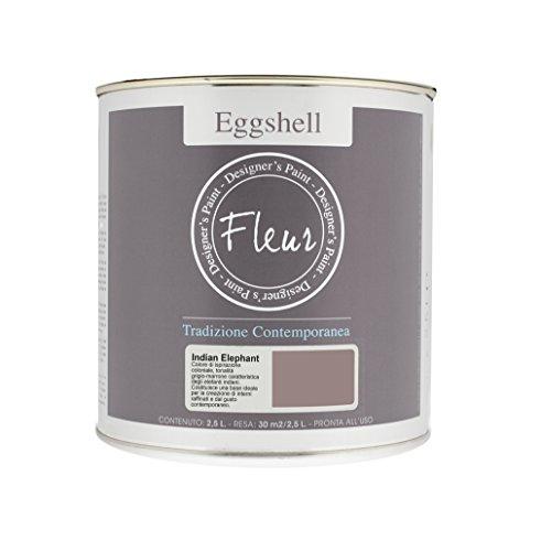Fleur Designer'S Paint Fleur Eggshell Smalto Satinato Ad Alta Resistenza Per Pareti E Grandi Superfici - 2.5L - Indian Elephant
