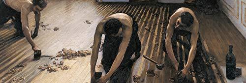 1art1 Gustave Caillebotte - Die Parkettschleifer, 1875 Poster Kunstdruck 158 x 53 cm