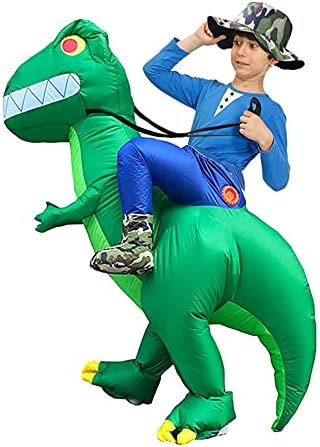 Inflatable Riding Philadelphia Mall in Dinosaur Halloween Costume Denver Mall Dress Car Fancy