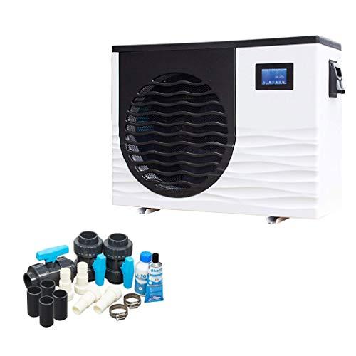 well2wellness Full-Inverter Pool Wärmepumpe Mida.Boost 18 - Poolheizung mit Einer Heizkapazität bis 17 kW Plus Bypass Set Basic + Abdeckung