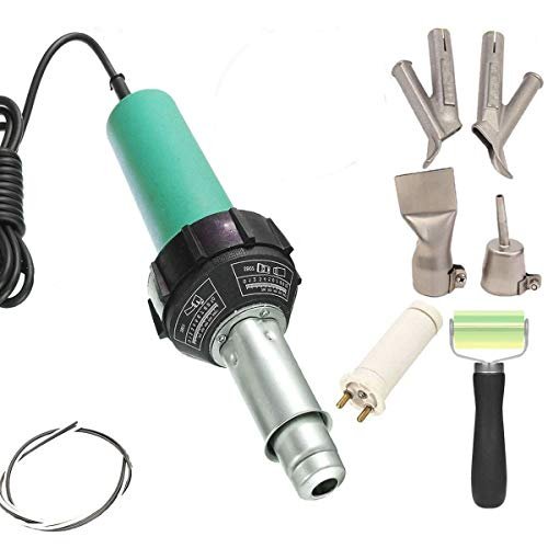 Beyondlife Plastic Hot Air Welder Heating Gun PVC Vinyl Rod Welding Hot Gas Pistol Tool 1600W