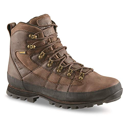 Guide Gear Men's Acadia II Waterproof Hiking Boots, Brown, 10D (Medium)
