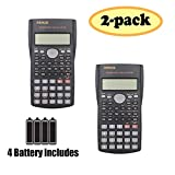 RENUS 2 Packs, 2-Line Engineering Scientific Calculator Function Calculator for Student and Teacher