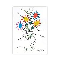 線手カラフル花束ポスターPablo Picasso壁アートパネルミニマリスト版画有名な抽象絵画インテリア北欧キャンバス写真寝室モダン家装飾画