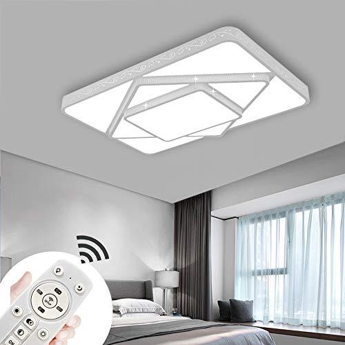 COOSNUG 78W Dimmbar LED Deckenleuchte Modern Deckenlampe Flur Wohnzimmer Lampe Schlafzimmer Küche Energie Sparen Licht Wandleuchte [Energieklasse A++]
