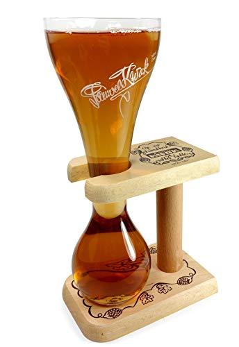 Pauwel Kwak Belgisches Bier Glas mit Holz Ständer 0,3l