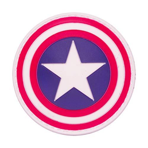 Cobra Tactical Solutions - PVC Patch Captain America Shield Avengers Movie Cosplay PVC Patch Motivational Military con Cierre de Velcro para Airsoft, Paintball, Ropa táctica y Mochila