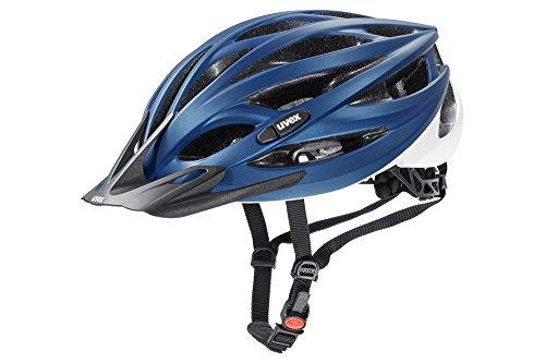 Uvex Unisex– Erwachsene, oversize Fahrradhelm, blue-white mat, 61-65 cm