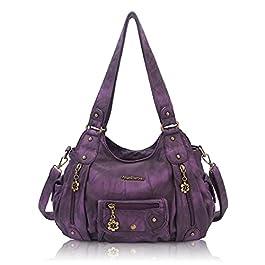 Angel Barcelo Womens Purses and Handbags PU Leather Shoulder Bag Fashion Hobo Bags for Girls