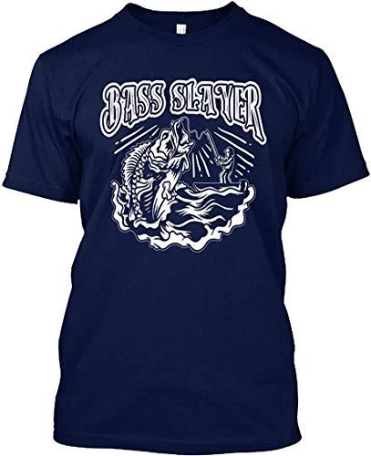 Kaured Custom T Shirt Big Bass Slayer Fishing T-Shirt Uomo's T-Shirt Tee