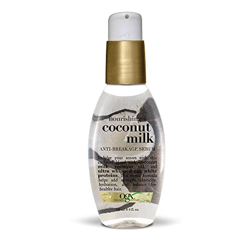 OGX Nourishing + Coconut Milk Anti-Breakage Serum, 4 Fl Oz
