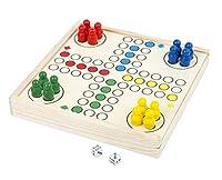 Small Foot 11210 Ludo to go, FSC 100%-Zertifiziert, Brettspiel für die ganze Familie in praktischer Holzbox, Unterhaltungsspiel für unterwegs, Für Kinder ab 3 Jahren Spielzeug, Mehrfarbig