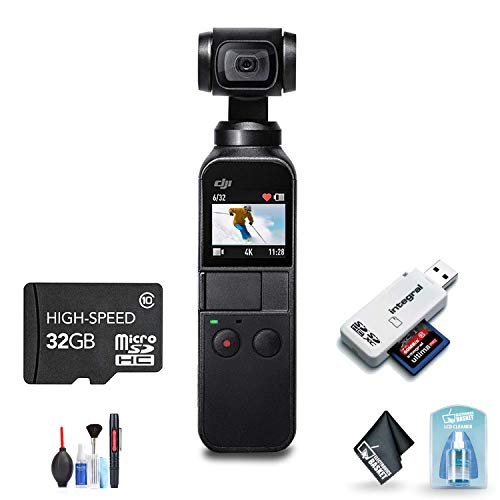 DJI Osmo Pocket Gimbal with Cleaning Kit and 32GB Fast Memory Card