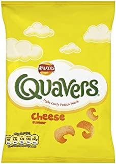 Walkers Crisps 6 Pack (Quavers Cheesy Flavor (6x17g))
