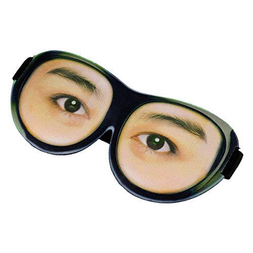 Lurrose 3d slaapmaskers grappige geprinte eyeshade licht slaap oogmasker voor reizen party (zacht patroon)