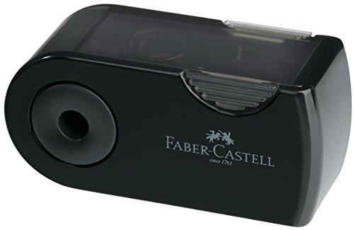 Klappspitzdose Mini, 8 mm, schwarz, transparent schwarz, im Display