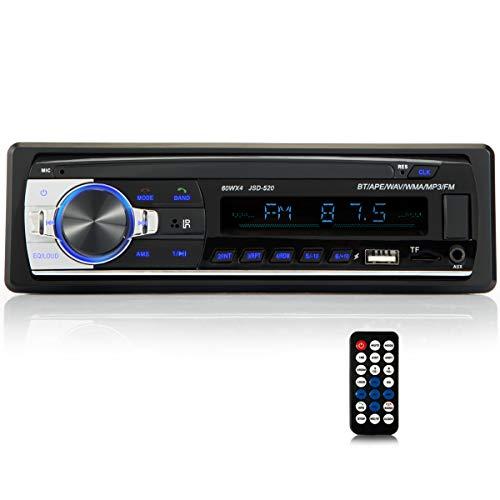 iFreGo Radio para coche con manos libres Bluetooth Radio para coche MP3 LCD USB Radio para coche AUX BT WAV WMA Radio FM HD con Bluetooth Manos libres Música Tarjetas SD Radio para coche ISO 1 DIN RDS