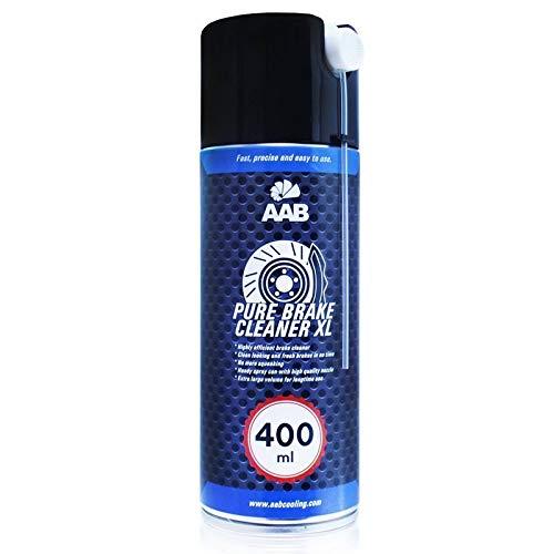 AAB Pure Brake Cleaner XL 400ml - Potente Freni Moto Pulitore – Kit Freni a Disco Bici, Spray Freni, Detergente Catena, Freni a Disco Moto
