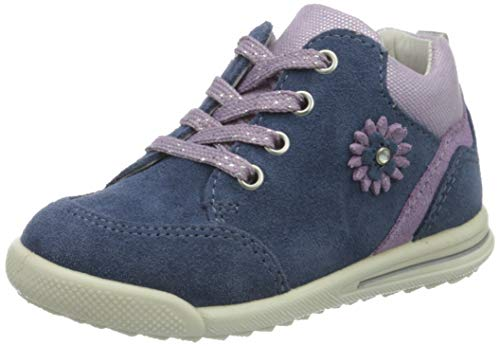 Superfit Baby Mädchen Avrile Mini Sneaker, Blau (Blau/Lila 80), 26 EU
