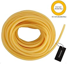 """AIRSOFTPEAK 3/33FT Natural Latex Rubber Tubing Speargun Band Slingshot Catapult Surgical Tube Rubber Hose 0.2"""" OD 0.12"""" ID..."""