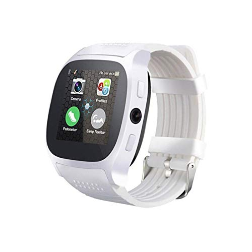 XXY T8 Smart Watch 1.54 Pulgadas Fitness Tracker Presión Arterial Smart Clock Support Sim TF Card Call SPORTSWATCH para Android iOS (Color : White, Size : with Original Box)