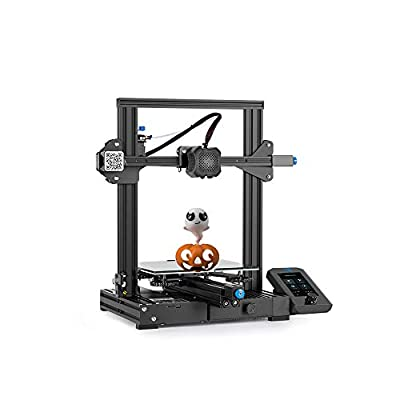 Creality Ender 3 V2 3D Printer by MKK FDM with 200g Test Filament,Upgrade Ender3/pro with Silent Motherboard Meanwell Power Supply Carborundum Glass Platform 220x220x250mm