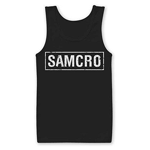 Officially Licensed Merchandise Samcro Distressed Tank Top Vest Black Large