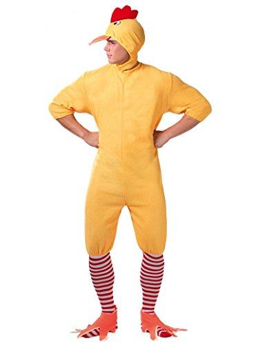 Guirca- Costume da Pollo Pulcino Adulto, Colore Giallo, 80596