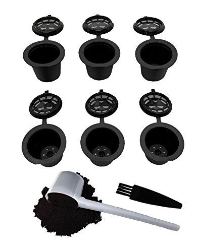 Nespresso Kapseln Nachfüllbar - Wiederverwendbare Kaffeepads für Nespresso Tassen - OriginalLine kompatibel - 6 Stück