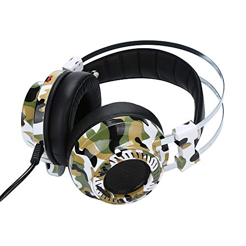 Marxways Neuester virtueller Surround-Sound mit 7,1 Kanälen USB-Gaming-Headset Over-Ear-Kopfhörer mit Mikrofon-Stereo-Kopfhörer Kopfhörer für PS4