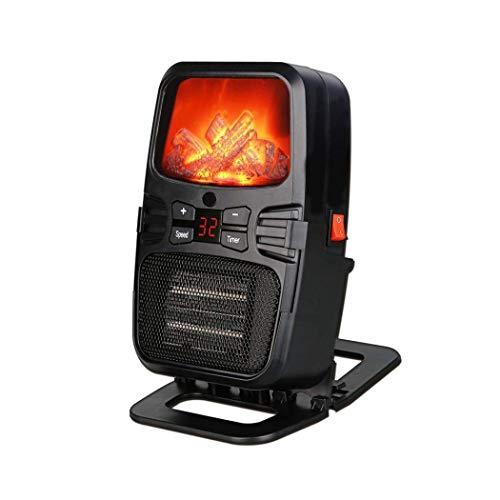 Termoventilador Pequeños electrodomésticos Calentador de espacio Calentador eléctrico de la llama mini calentador de ventilador portátil con control remoto y soporte for el escritorio de oficina en ca