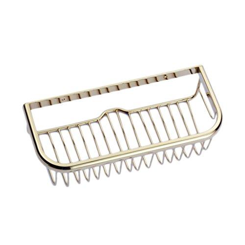 YSDHE Ducha de baño Cesta de almacenaje Organizador Estante, Cobre de Oro Engrosamiento Cuadrado Ancho Pared Lateral Esquina Colgador de Pared Tornillos de Montaje (Size : 30cm)