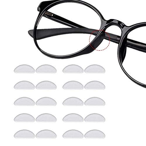 12 Pares Almohadillas de Nariz Adhesivas Almohadillas de Gafas de Silicona Antideslizantes para(1mm Transparente)