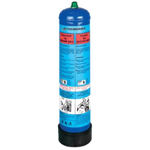ROTHENBERGER Sauerstoff-Flasche, 110 bar, 930 ml